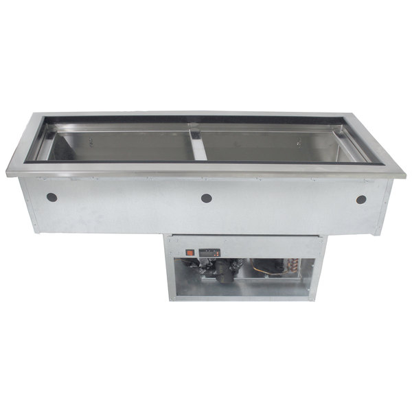 Advance Tabco DISLRCP-2 Stainless Steel Two Well Slimline Refrigerated Drop-In Ice Cooled Unit Main Image 1