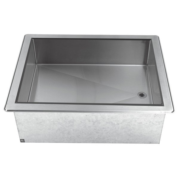 Advance Tabco DICP-3 Stainless Steel Three Pan Size Drop-In Ice Cooled Unit Main Image 1