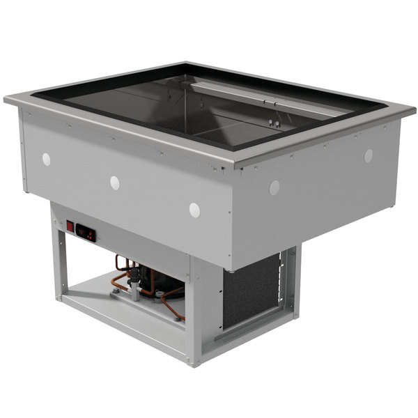 Advance Tabco DIRCP-2 Stainless Steel Two Pan Drop-In Refrigerated Cold Pan Unit