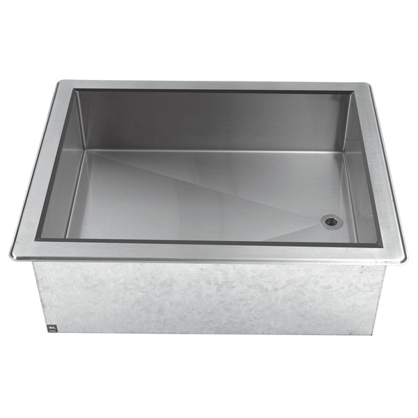 Advance Tabco DICP-2 Stainless Steel Two Pan Size Drop-In Ice Cooled Unit