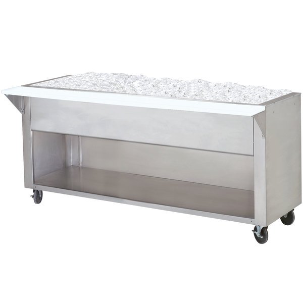 Advance Tabco CPU-4-BS Stainless Steel Ice-Cooled Table with Enclosed Base Main Image 1