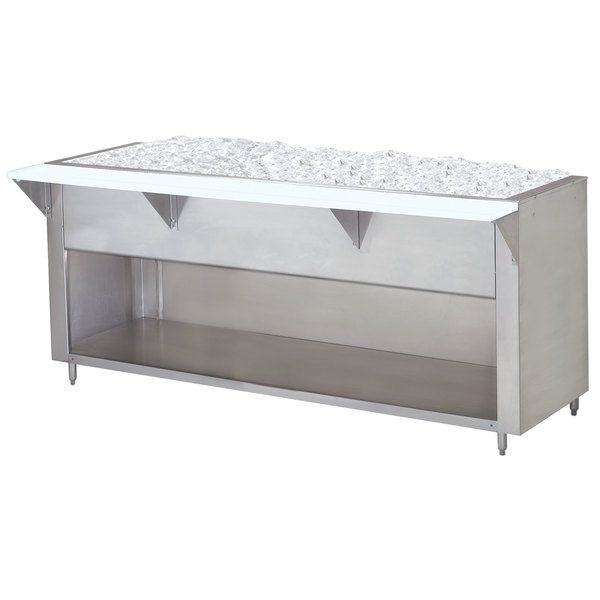 Advance Tabco CPU-3-BS Stainless Steel Ice-Cooled Table with Enclosed Base