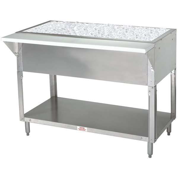Advance Tabco CPU-4 Stainless Steel Ice-Cooled Table with Undershelf