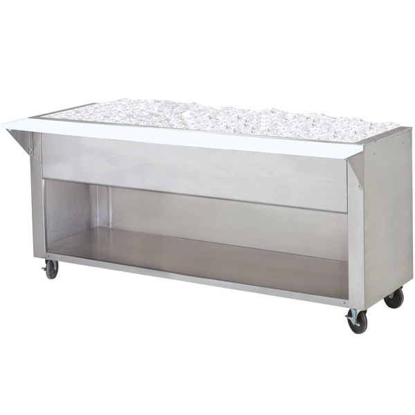 Advance Tabco CPU-2-BS Stainless Steel Ice-Cooled Table with Enclosed Base