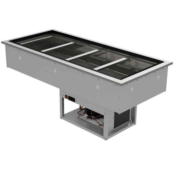 Advance Tabco DIRCP-4 Stainless Steel Four Pan Drop-In Refrigerated Cold Pan Unit