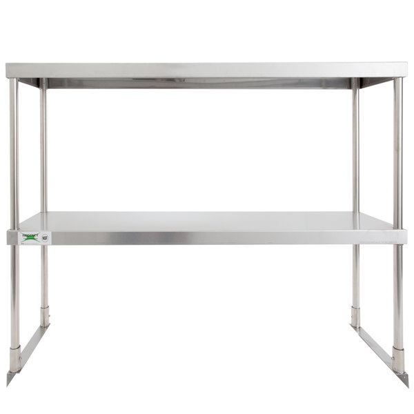 "Regency Stainless Steel Double Deck Overshelf - 12"" x 36"" x 32"""