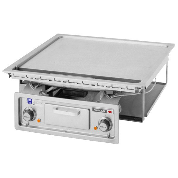 """Wells G-136 24"""" Drop-In Electric Countertop Griddle - 208/240V, 9000W"""