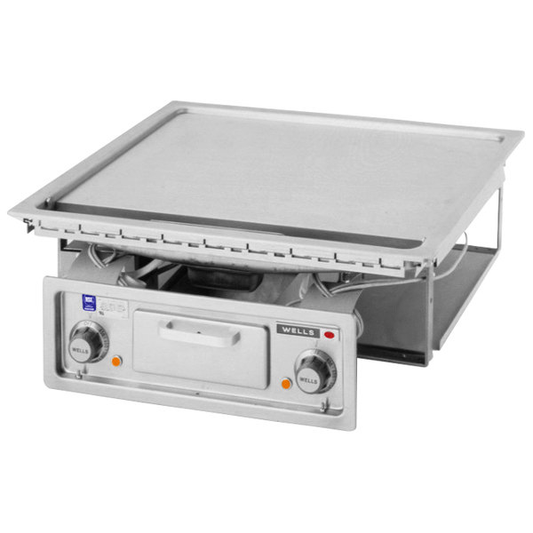 """Wells G-136 24"""" Drop-In Electric Countertop Griddle - 208/240V, 9000W Main Image 1"""