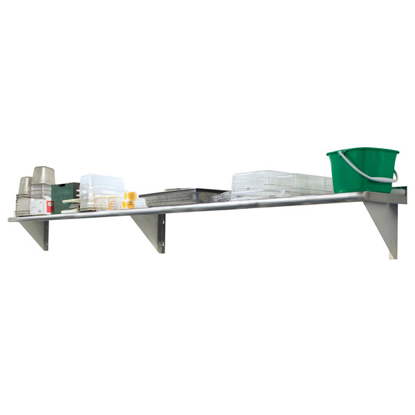 """Advance Tabco WS-12-84-16 12"""" x 84"""" Wall Shelf - Stainless Steel Main Image 1"""