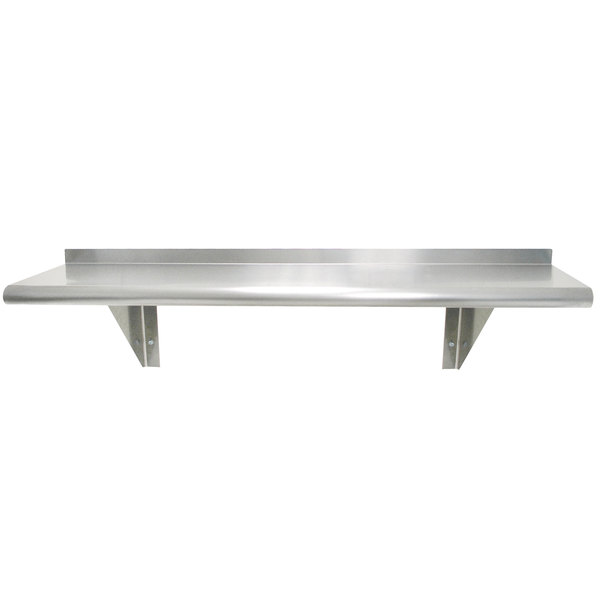 "Advance Tabco WS-10-84-16 10"" x 84"" Wall Shelf - Stainless Steel Main Image 1"
