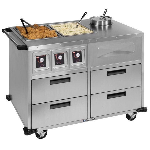 utility cabinets for kitchen lakeside 6745 serve all 51 quot stainless steel mobile food 6745