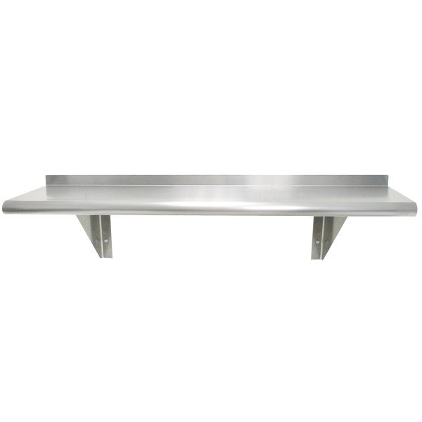 """Advance Tabco WS-10-60-16 10"""" x 60"""" Wall Shelf - Stainless Steel"""