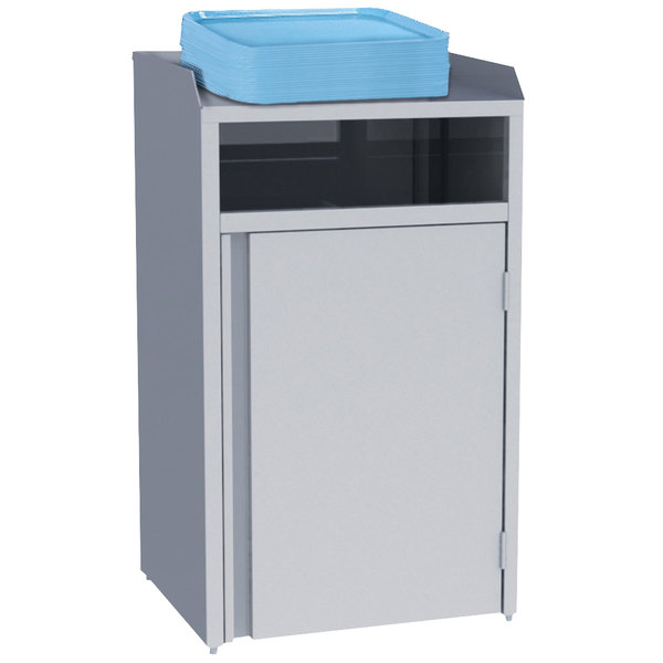 "Lakeside 4310 Stainless Steel Refuse Station with Front Access - 26 1/2"" x 23 1/4"" x 45 1/2"""