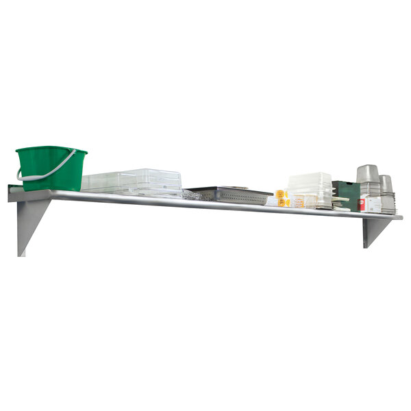 """Advance Tabco WS-12-48-16 12"""" x 48"""" Wall Shelf - Stainless Steel Main Image 1"""