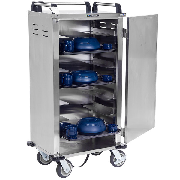 Lakeside DCD-5514 Stainless Steel 14 Tray Meal Delivery Cart Main Image 1