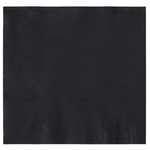 PACK OF 10 BRAND NEW BLACK 100/% COTTON NAPKINS 52CMx52CM