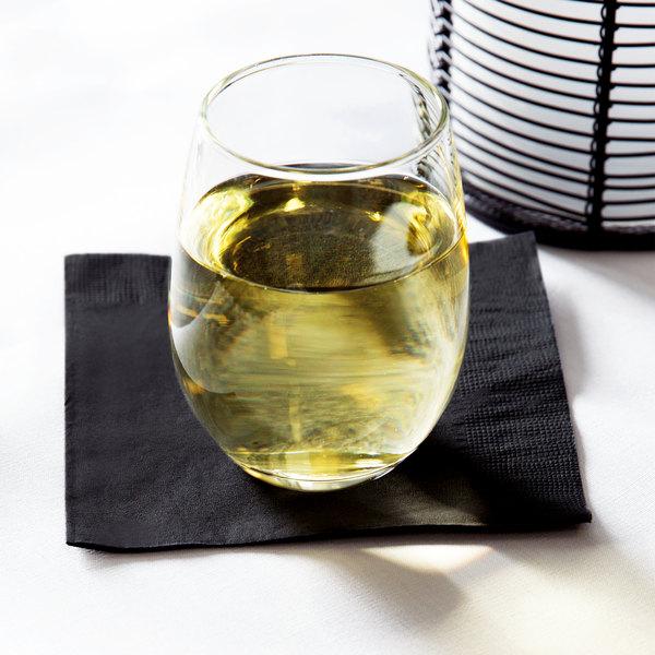 Black Cocktail Napkins : Choice quot customizable black ply beverage