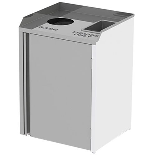 """Lakeside 3320 Stainless Steel Liquid / Cup Refuse Station with Top Access - 26 1/2"""" x 23 1/4"""" x 34 1/2"""""""