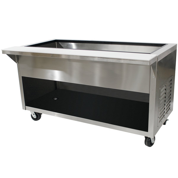 Advance Tabco HDCPU-6-BS Stainless Steel Heavy-Duty Ice-Cooled Table with Enclosed Base Main Image 1