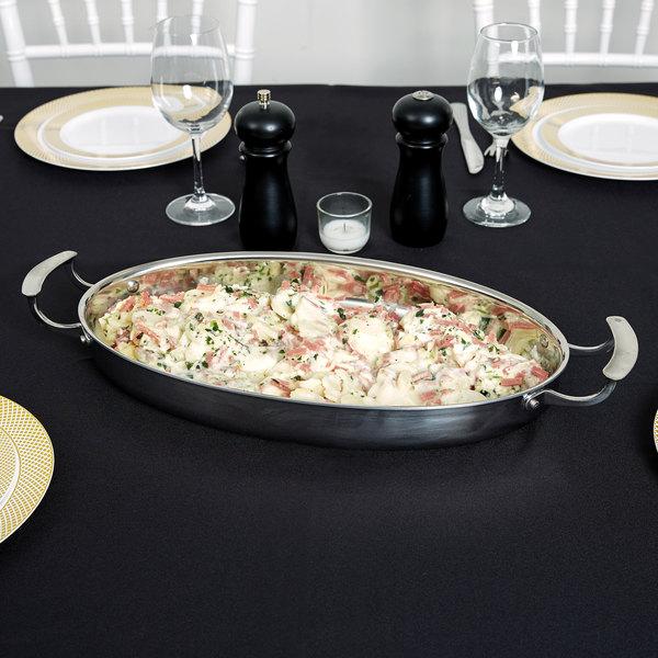 Vollrath 49442 Miramar Display Cookware 3.75 Qt. Oval Au Gratin Dish Main Image 2
