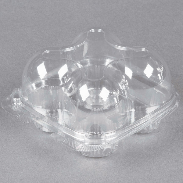 200-Count Simply Deliver 8 oz Tall Dome Hinged Lid Deli Container with Complete Air-Tight Seal Crystal Clear PET