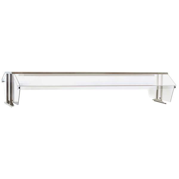 "Eagle Group BS2-HT5 Stainless Steel Buffet Shelf with 2 Sneeze Guards for 5 Well Food Tables - 79"" x 36"" Main Image 1"