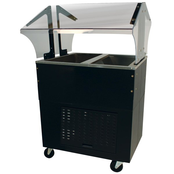 Advance Tabco BMACP2-B-SB Mechanically Assisted Two Well Everyday Buffet Cold Pan Table with Enclosed Base - Open Well Main Image 1