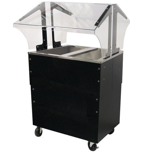 Advance Tabco B2-CPU-B-SB Two Well Everyday Buffet Ice-Cooled Table with Enclosed Base - Open Well