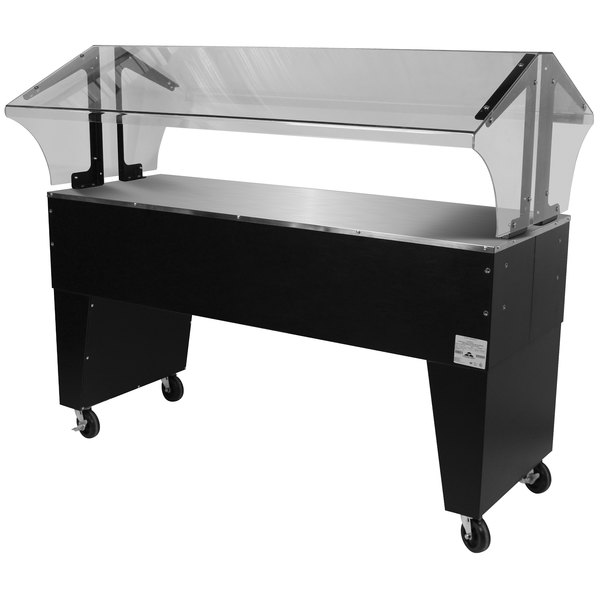 Advance Tabco B4-STU-B Everyday Buffet Solid Top Table with Open Base Main Image 1
