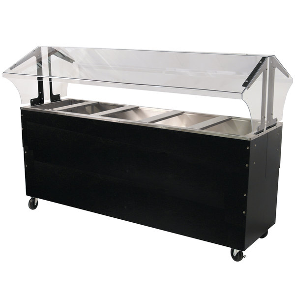 Advance Tabco B5-CPU-B-SB Five Well Everyday Buffet Ice-Cooled Table with Enclosed Base - Open Well Main Image 1
