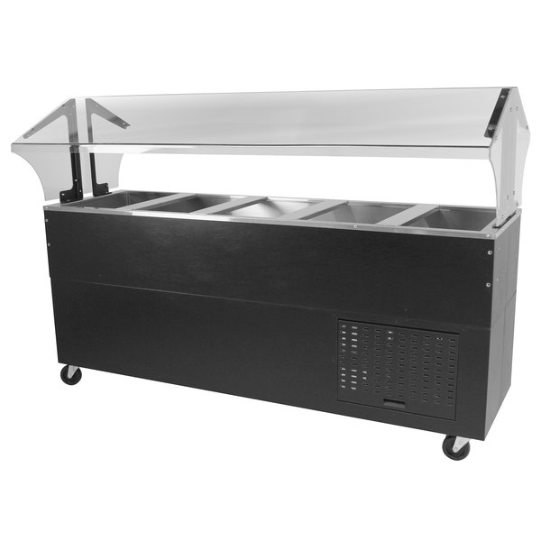 Advance Tabco BMACP5-B-SB Mechanically Assisted Five Well Everyday Buffet Cold Pan Table with Enclosed Base - Open Well Main Image 1