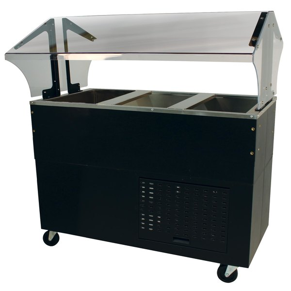 Advance Tabco BMACP3-B-SB Mechanically Assisted Three Well Everyday Buffet Cold Pan Table with Enclosed Base - Open Well Main Image 1