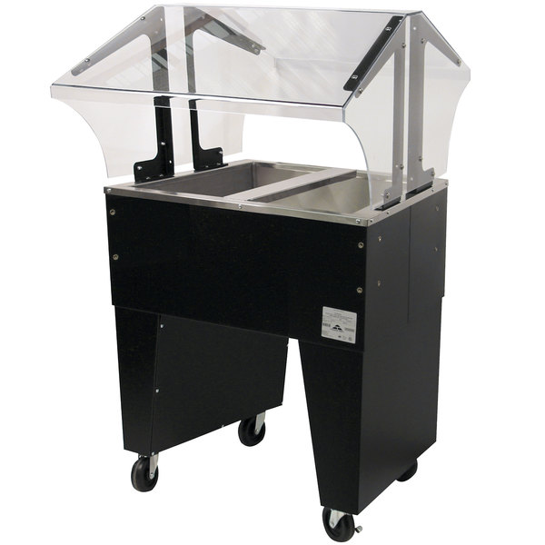 Advance Tabco B2-CPU-B Two Well Everyday Buffet Ice-Cooled Table with Open Base - Open Well