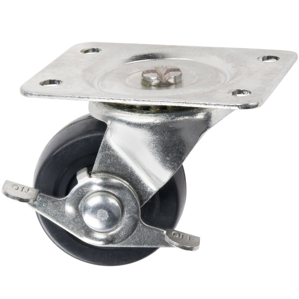 """2 1/2"""" Swivel Plate Caster with Brake"""