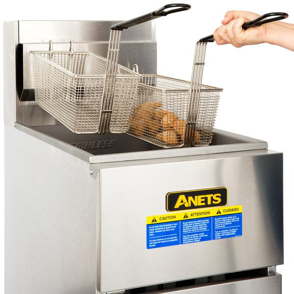 Anets SLG50 Natural Gas 40-50 lb. SilverLine Fryer - 120,000 BTU