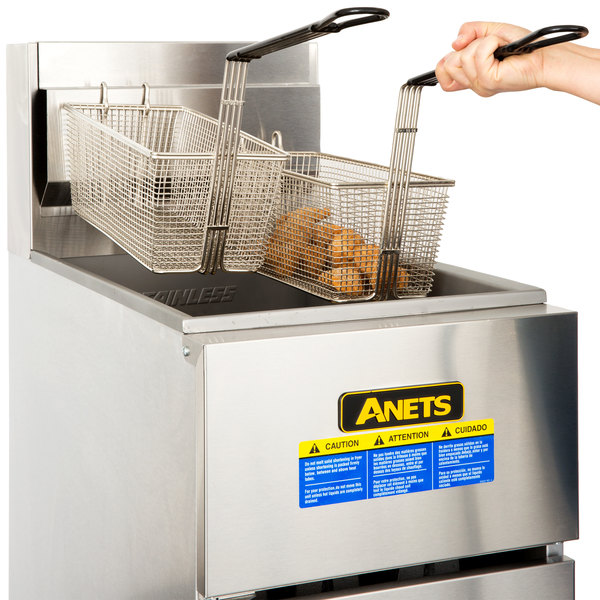 Anets SLG50 Liquid Propane 40-50 lb. SilverLine Fryer - 120,000 BTU