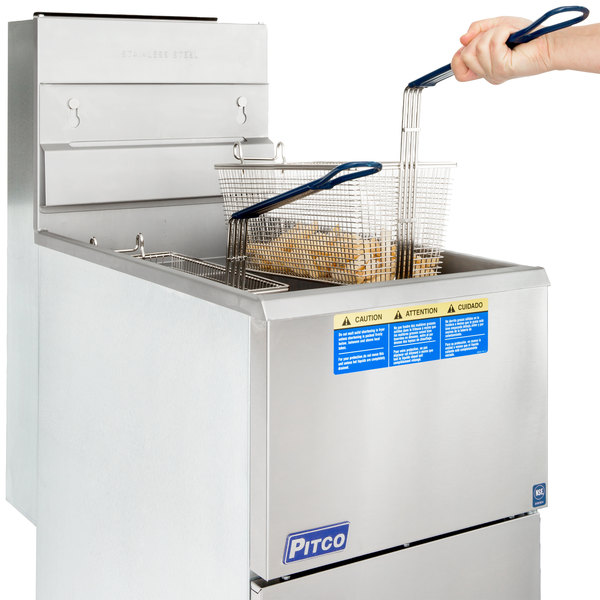 Pitco® 35C+S Liquid Propane 35-40 lb. Stainless Steel Floor Fryer Main Image 7