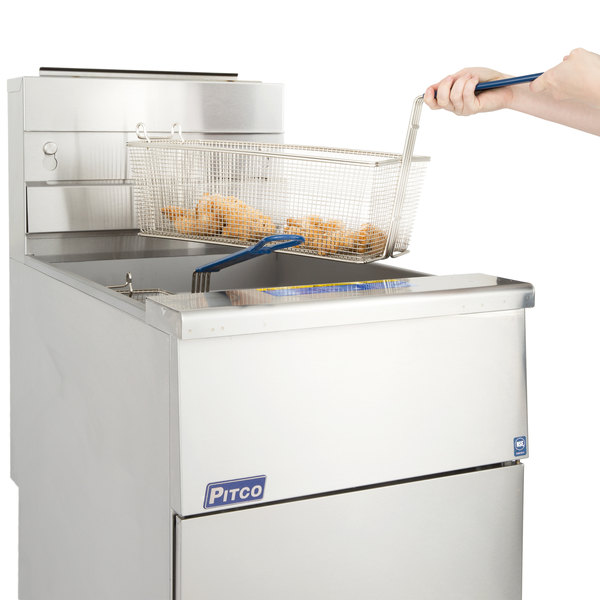 Pitco® SG18-S Natural Gas 75 lb. Stainless Steel Floor Fryer Main Image 7