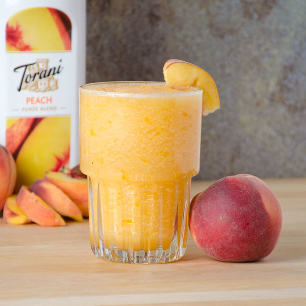 Torani 1 Liter Peach Puree Blend Main Image 5