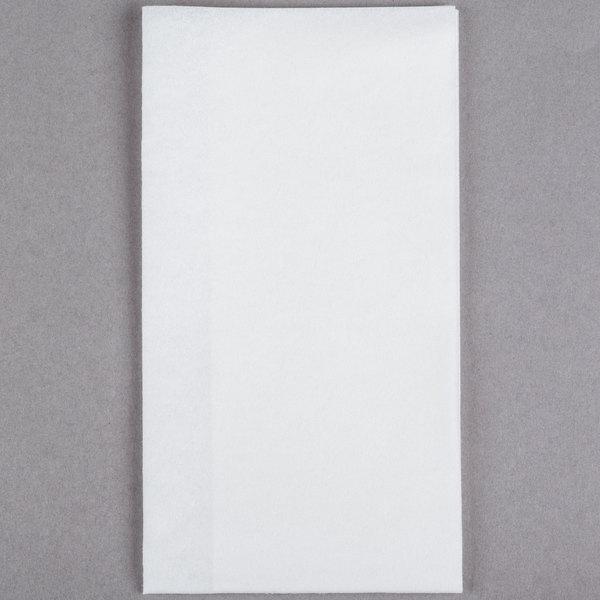 Lavex Lodging Linen-Feel White 1/6 Fold Guest Towel  - 500/Case