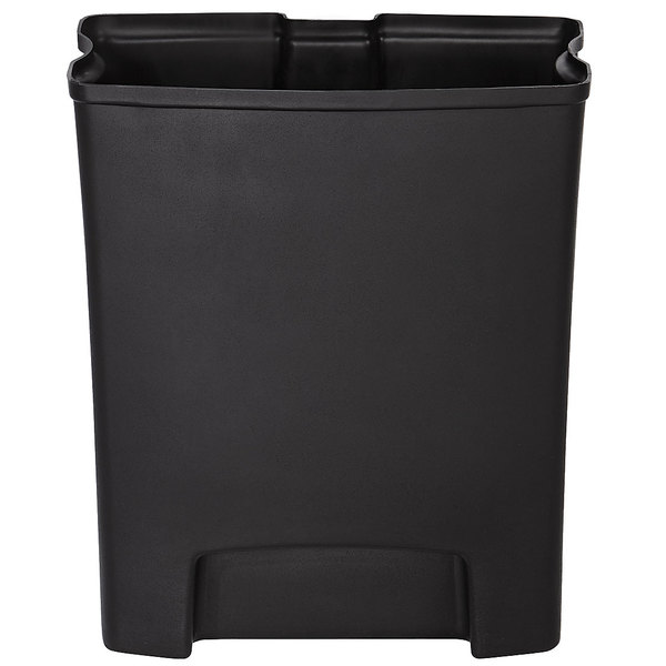 Rubbermaid 1883618 Slim Jim Black Rigid Plastic Liner for 8 Gallon Resin Front Step-On Trash Can Main Image 1