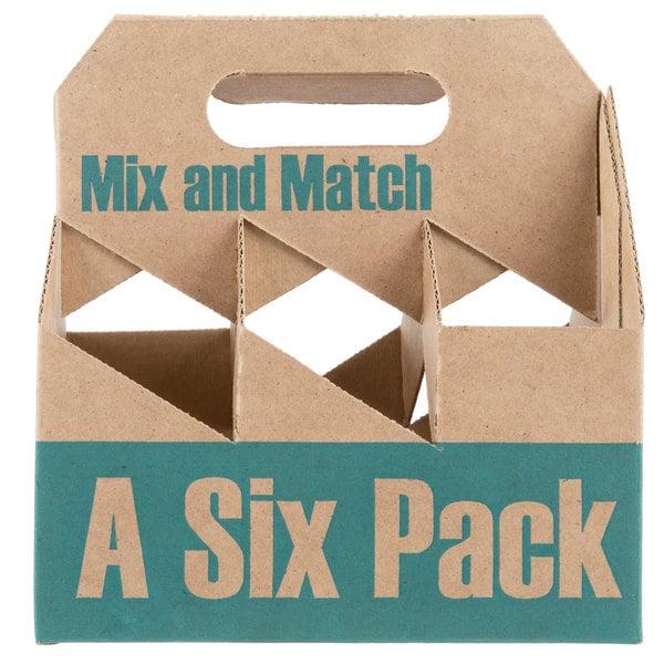6 Pack Cardboard Beer Bottle Carrier - 75/Case Main Image 1