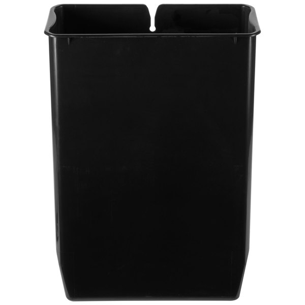 Rubbermaid 1900680 Slim Jim Black Rigid Plastic Liner for 8 Gallon Stainless Steel End Step-On Trash Can Main Image 1