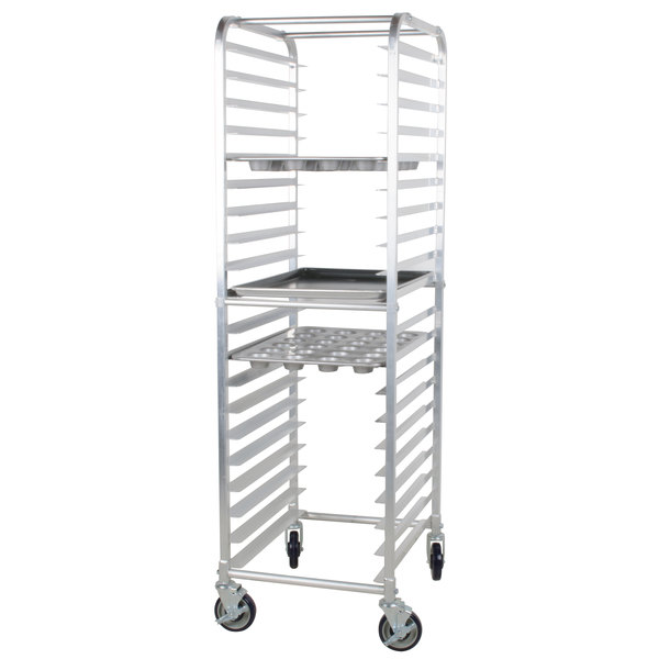 Regency 20 Pan End Load Bun Sheet Pan Rack With Non Marking Casters Unassembled