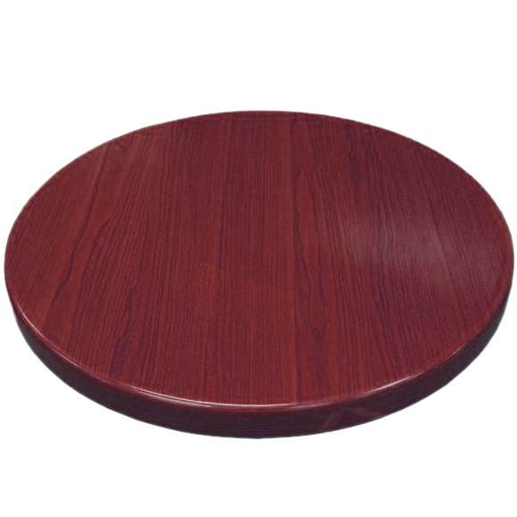 "American Tables & Seating ATR48-M Resin 48"" Round Table Top - Mahogany"