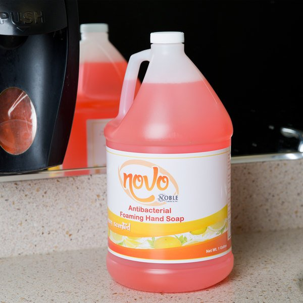 Noble Chemical Novo 1 Gallon / 128 oz. Foaming Anti-Bacterial / Sanitizing Hand Soap - 4/Case