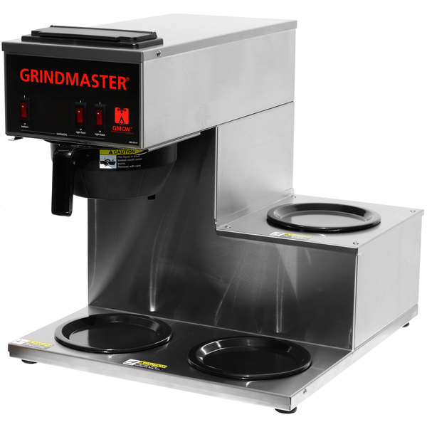 Grindmaster CPO-3RP-15A Portable Pourover Coffee Brewer with 1 Top and 2 Bottom Warmers