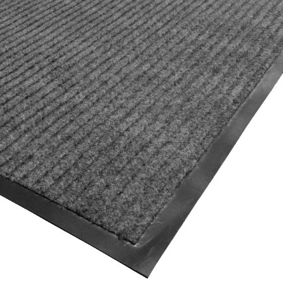 "Cactus Mat 1485M-E36 3' x 6' Gray Needle Rib Carpet Mat - 3/8"" Thick"