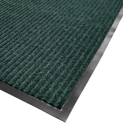 "Cactus Mat 1485M-G35 3' x 5' Green Needle Rib Carpet Mat - 3/8"" Thick"