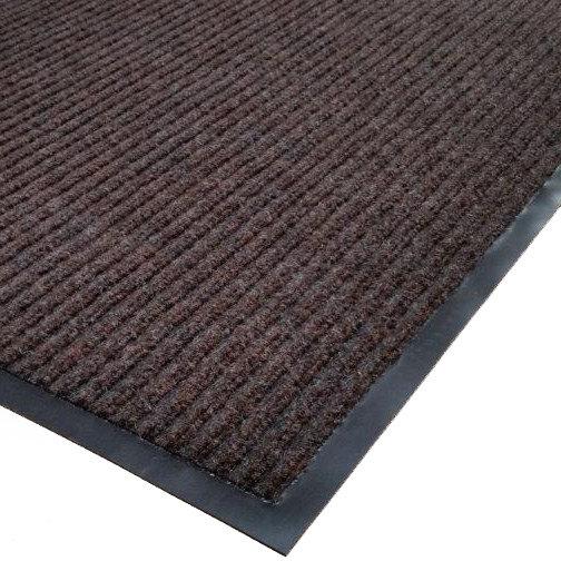 "Cactus Mat 1485M-B35 3' x 5' Brown Needle Rib Carpet Mat - 3/8"" Thick"